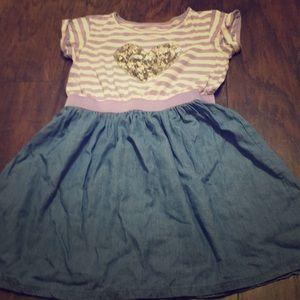 Purple/jean dress
